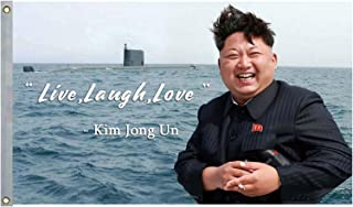 inteluck Kim Jong Un Banner Tapestry 300d Thicker Fabric Live Laugh Love Quote Single Sided College Dorm Decor 3x5 Feet Flag