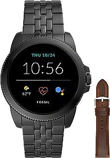 Fossil Smartwatch GEN 5E Connected da Uomo con Wear OS by Google con Cinturino in Acciaio Inossidabile Nero + Cinturino de...