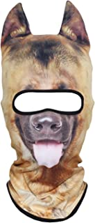 JIUSY 3D Animal Stand Ears Fleece Thermal Hood Balaclava Neck Warmer Face Mask for Winter Halloween Party