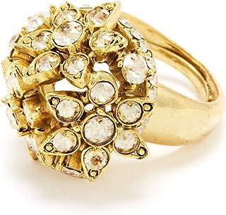 Oscar de la Renta Flower Crystal Ring