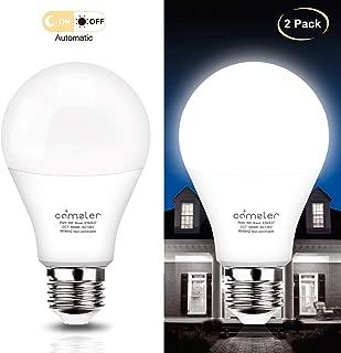 Dusk to Dawn LED Outdoor Lighting, Smart Light Bulb, Bright White Light Bulbs Smart Bulbs Sensor Light Bulbs Night Light Bulbs E26 LED Bulb LED Light Bulbs Dusk to Dawn Sensor Light Bulbs (2 Pack)