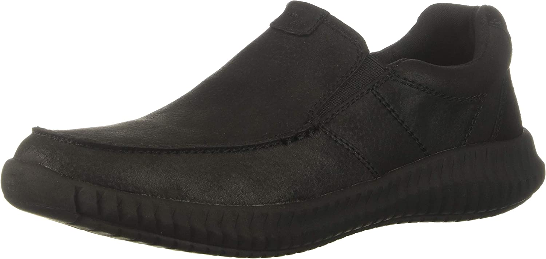 Skechers Men's BRENDO-Eldon Driving Style Loafer, Black, 9 Medium US