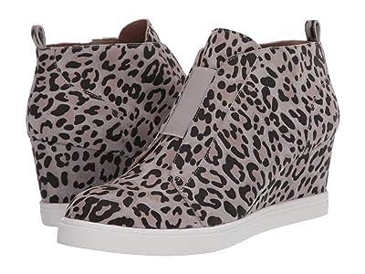 LINEA Paolo Felicia Wedge Sneaker (Grey Leo Print Suede) Women