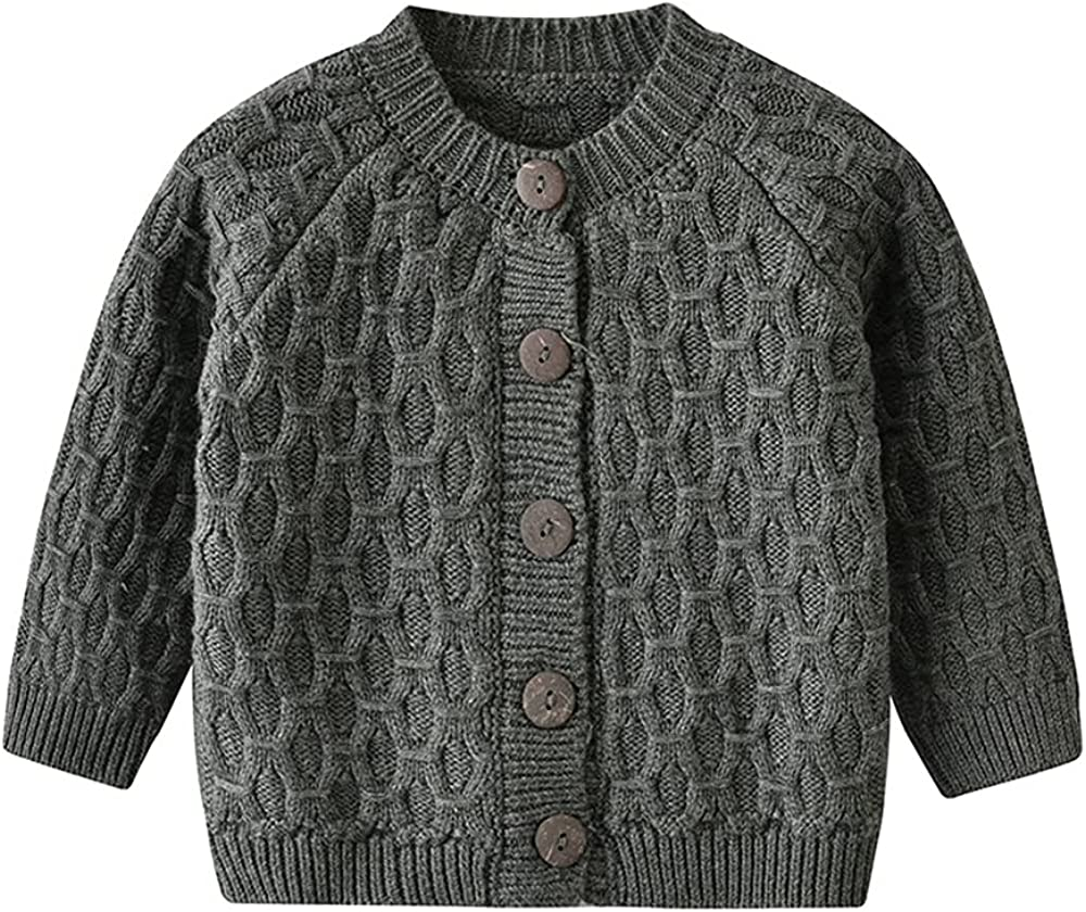 Vivobiniya Kid Boys Knit Sweater Toddler Baby Long Sleeve Cardigan Boy's Outerwear Children Coat