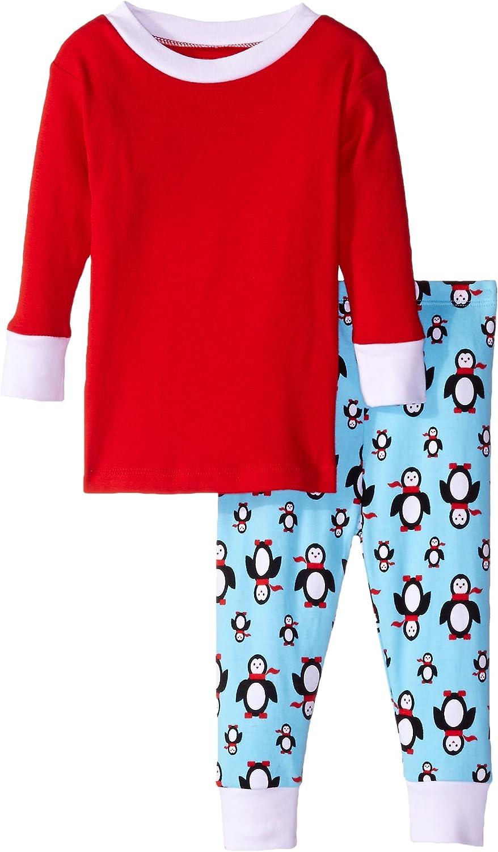 New Jammies Baby Boys' Organic Pajamas Poised Penguins Top