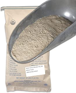 Great River Organic Milling, Bread Flour, Unbleached Wheat, Organic, 25-Pounds (Pack of 1)