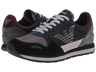 Emporio Armani Eagle Sneaker (Mixed Media) Men