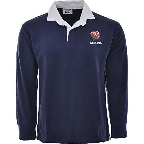 ff2b6bc7bd4 Activewear England English Retro Rugby Shirts Adults S M L XL XXL 3xl 4xl  5xl Full Sleeve Exclusive
