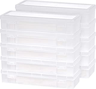 IRIS 585172 Modular Supply Case, PVC-Free ,Large,10 Pack, Clear