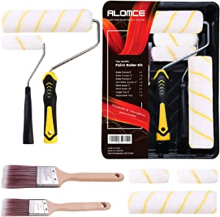 Paint Roller Kit – Paint Roller, Paint Tray, Paint Brush, Roller Paint Brush, Home Painting Supplies and Roller Cover Set ...