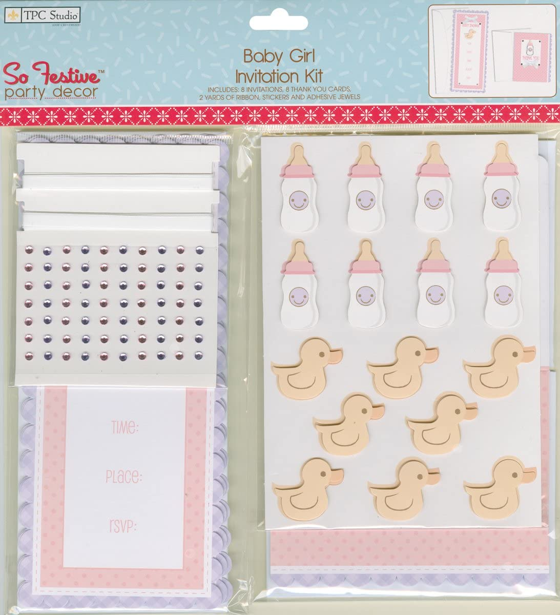 Westrim Crafts Party Invitation Kit Makes 8 Baby Girl