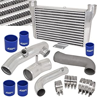 For Scion/Toyota FRS FT86 GT86 Subaru BRZ Turbo Front Mount Silver Intercooler + Piping Kit w/Blue Couplers Performance Racing JDM