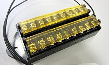 8 Way Terminal Block Bus Bar, Splits 1 Input to 8 Out (18AWG Power Lead and with Cover)