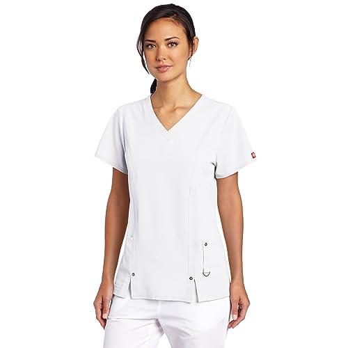 1989630d0d5 Dickies Women's Scrubs Xtreme Stretch V-Neck Shirt