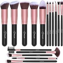 BESTOPE Makeup Brushes 16 PCs Makeup Brush Set Premium Synthetic Foundation Brush Blending Face Powder Blush Concealers Eye Shadows Make Up Brushes Kit (Rose Golden)