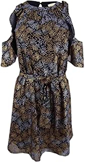 Michael Kors Women's Metallic Cold-Shoulder Dress
