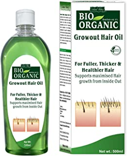 INDUS VALLEY 100% Organic Growout Hair Oil for Growth of Hair (500 ML)