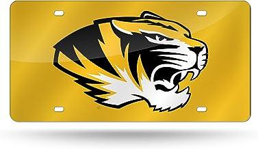 Rico Industries NCAA unisex Laser Inlaid Metal License Plate Tag