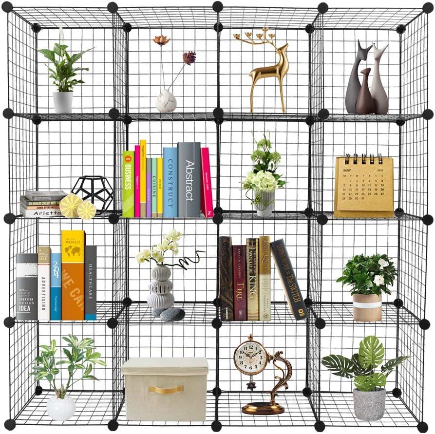VINGLI Wire Cube Super sale period limited Trust Storage 16-Cube Grids Stackable Shelves Metal