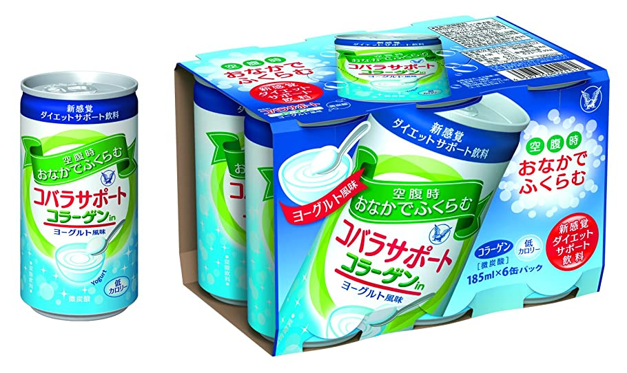伝染性の優先枯渇するコバラサポート コラーゲンin ヨーグルト風味<炭酸飲料> 185ml×30本