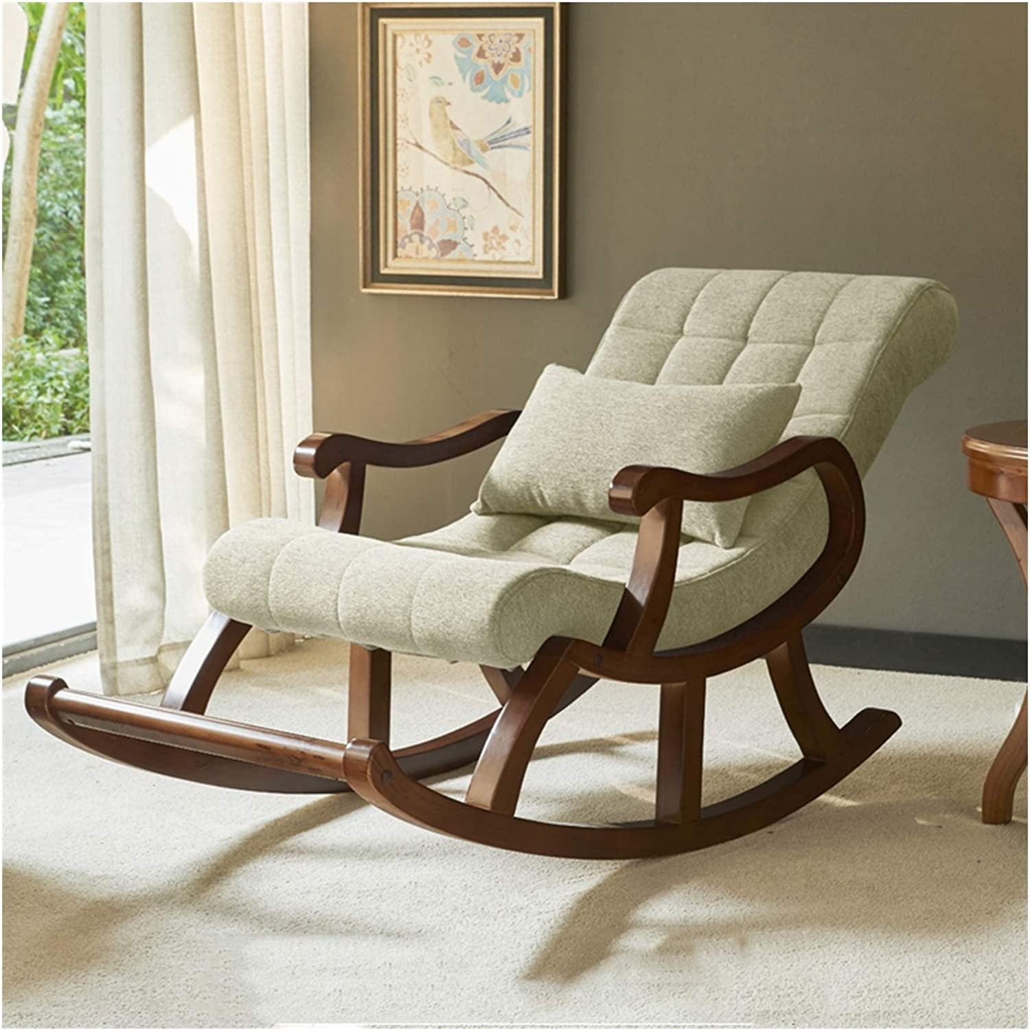 SFGH Solid Wood Rocking Chair Pedal Lazy High quality Recl Integrated Leisure Sacramento Mall