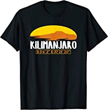 Mount Kilimanjaro Silhouette Graphic and Coordinate T-Shirt