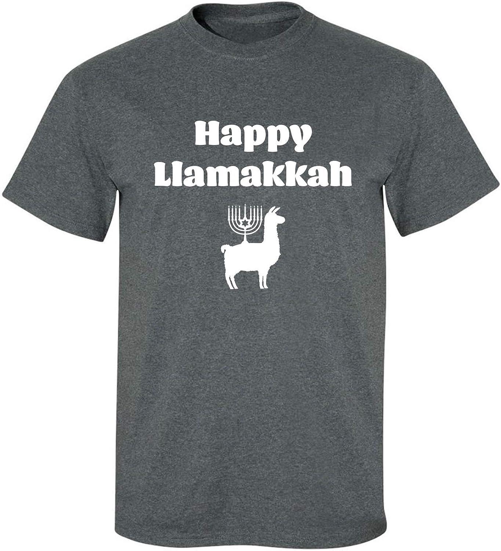 Happy Llamakkah Adult T-Shirt in Dark Heather - XXXXX-Large