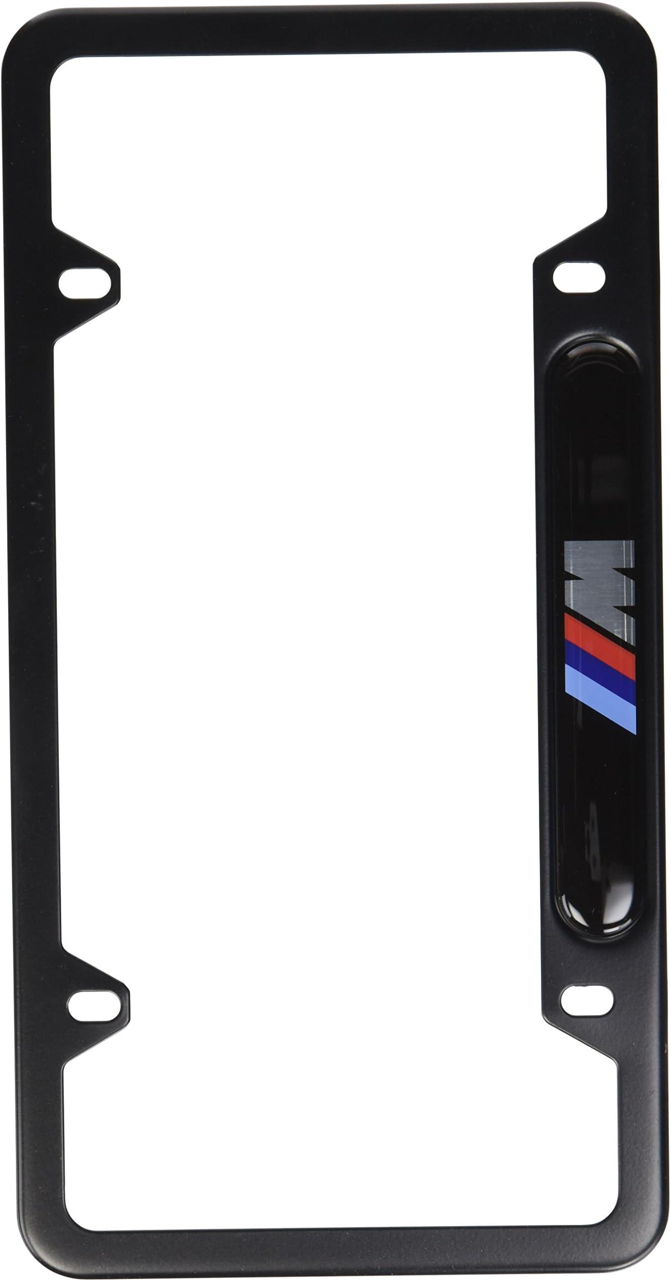 4 Black Billet Aluminum Custom License Plate Frame Tag LG Bolts USAF Logo B
