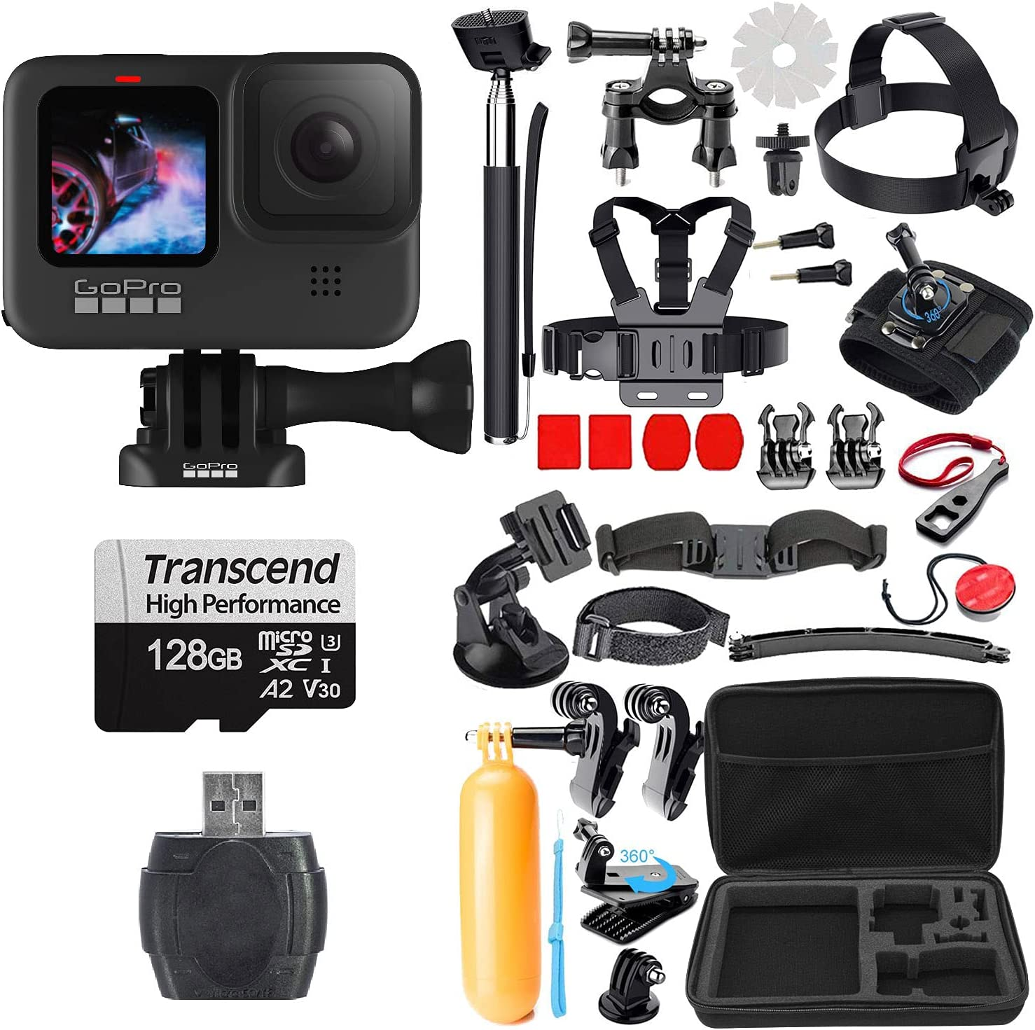 Seattle Mall GoPro Phoenix Mall Hero 9 Black with Micro SD Acces + Piece Action 38 Striker
