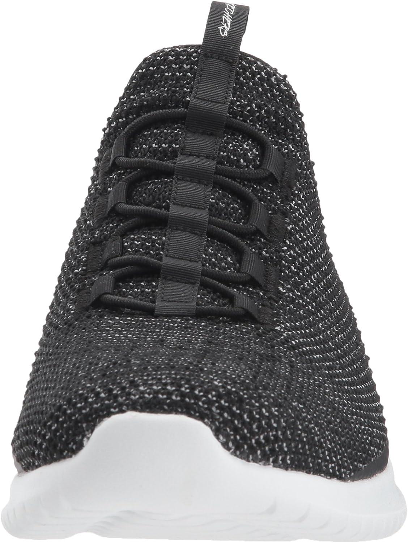 Skechers Damen Ultra Flex Capsule-12840 Sneaker, blau Schwarz