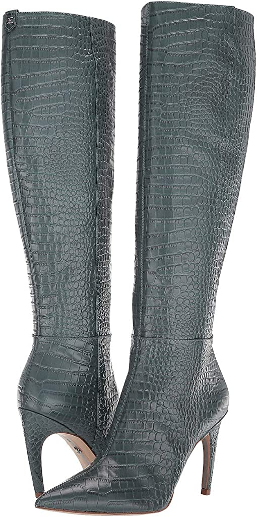 Grey Iris Kenya Croco Embossed Leather