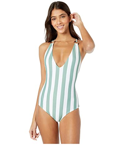 MIKOH SWIMWEAR Kata One-Piece (Retro Stripe Maui) Women
