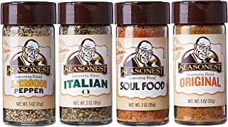 Herbs Seasoning Spice Set of 4 Classic Organic | Lemon Pepper Italian Soul Food Original Cajun | Vegan | Gluten Free | Chicken | Meat Rub | Grilling | Marinade | Food Gift