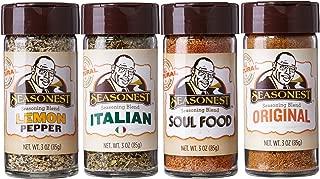 Herbs Seasoning Spice Set of 4 Classic Organic | Lemon Pepper Italian Soul Food Original Cajun | Vegan | Gluten Free | Chicken | Meat Rub | Grilling | Marinade | Food Gift