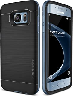 Galaxy S7 Edge Case, VRS Design [High Pro Shield Series] Slim Fit Cover with Military Grade Drop Protection for Samsung Galaxy S7 Edge 2016 - Blue Coral