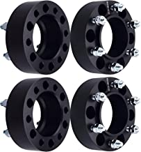 DCVAMOUS 6 Lug Black Hubcentric Wheel Spacers 6x5.5 with 12x1.5 Studs for 2001-2018 Toyota Tacoma,1996-2018 Toyota 4Runner,2000-2006 Tundra,2007-2014 FJ Cruiser,2001-2007 Sequoia(4PC, 2