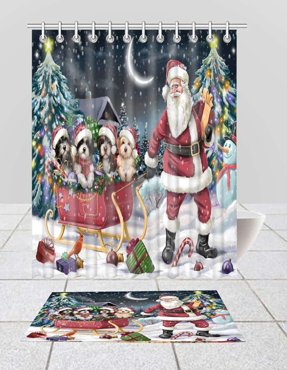 Santa Recommended Sled Clearance SALE Limited time Dogs Christmas Happy Shower Cu Havanese Holidays