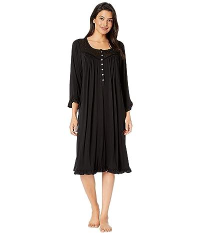 Eileen West Modal Spandex Jersey Knit Waltz Nightgown (Black) Women