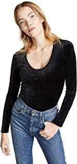 Theory Women's Basic Velour Long Sleeve Top