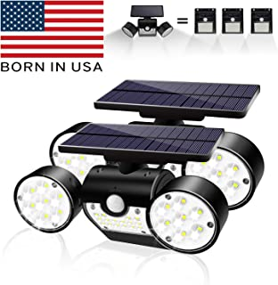Bonitoys Solar Lights Outdoor, Solar Wall Lights Waterproof IP65 Solar Security Lights 360-Degree Rotatable, 30 LED Solar Motion Lights Outdoor for Yard Garden Garage Patio Porch 2 Pack