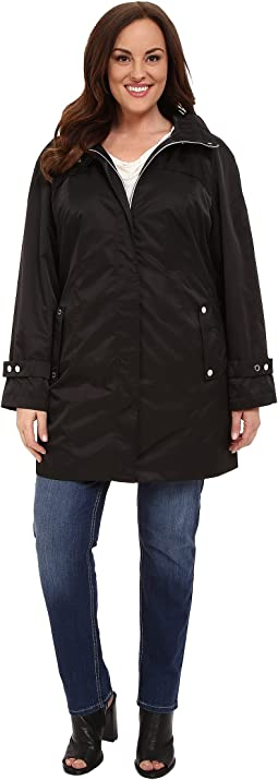 Calvin Klein Plus Plus Size Long Packable Anorak