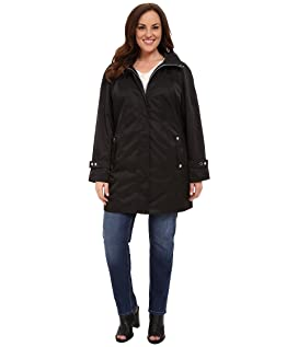 Plus Size Long Packable Anorak