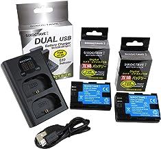 str LP-E6N LP-E6 LP-E6NH 互換バッテリー 2個[最新ICチップ搭載 EOS R5/R6の連続撮影対応] & デュアル USB 急速互換充電器 カメラ バッテリー チャージャー LC-E6N LC-E6 [バッテリー2個ま...