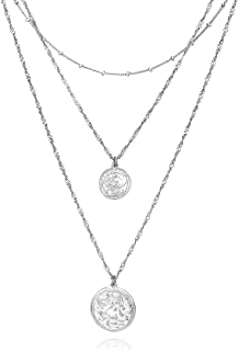 coin necklaces silver