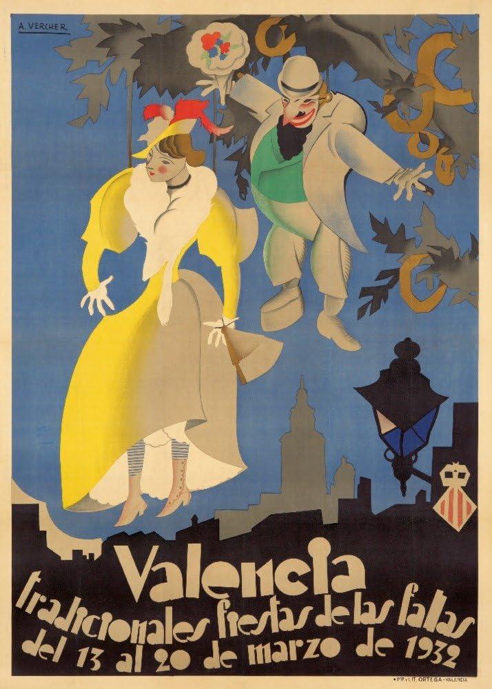 Spain - Valencia Fiestas de Fallas mart A. artist: Vercher las Max 58% OFF