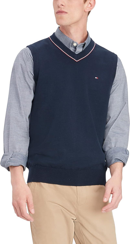 Tommy Hilfiger Men's Sweater Genuine Vest Super intense SALE Cotton