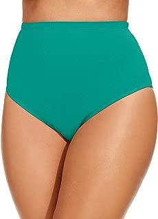 La Blanca Womens Plus Size Island Goddess Solid Hi-Rise Pant Bikini Bottom Swimsuit Bottoms