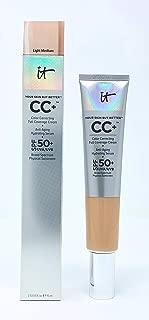 It Cosmetics Your Skin but Better Cc+ Cream SPF 50+ 2.53 Fl Oz Supersize Light Medium