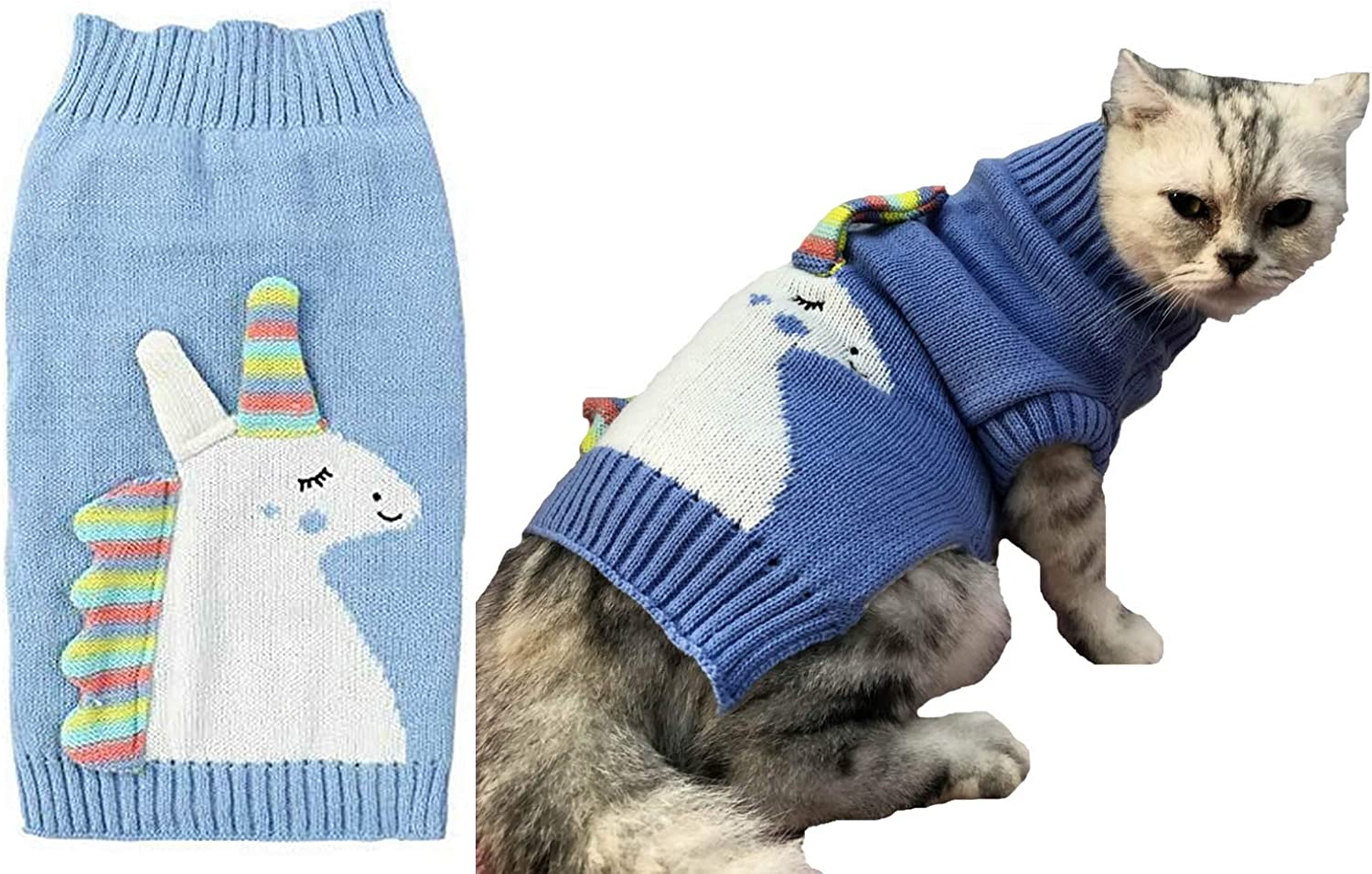Lanyar Unicorn Pet Costume Holiday Dog for Dogs Bl Sweater Cats Challenge the lowest price Soldering