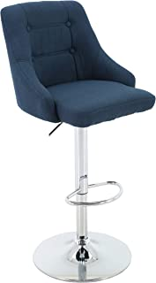 blue tufted bar stools